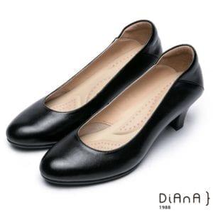 Diana黑色跟鞋