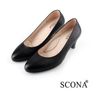 scona黑色跟鞋