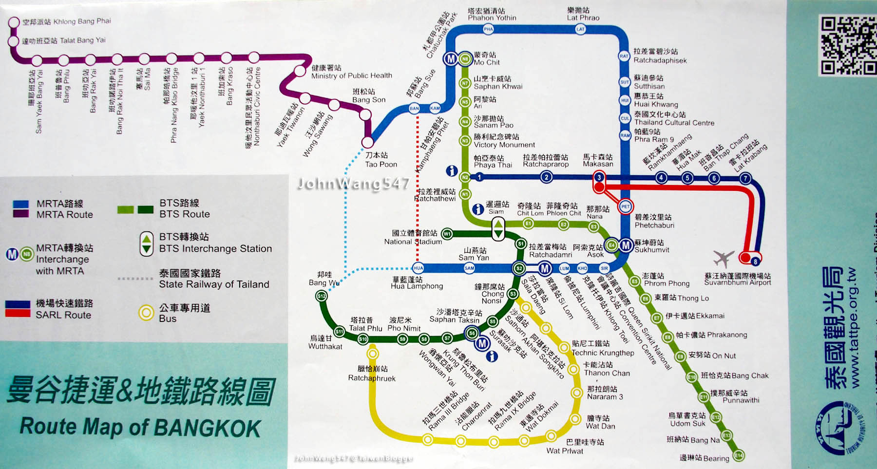 曼谷捷運路線圖