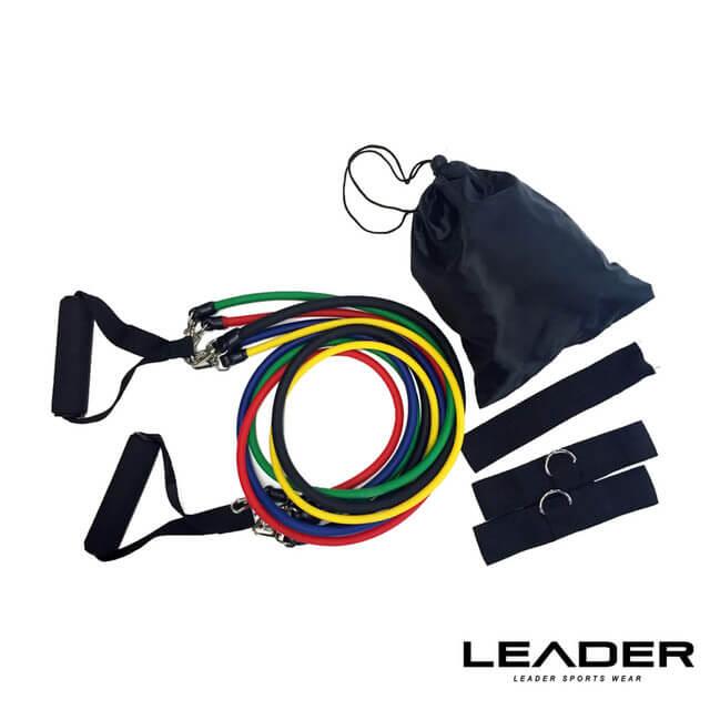 【Leader X】可拆卸高彈力彩虹訓練拉力繩 彈力繩