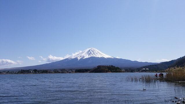 國外避暑勝地日本富士山河口湖