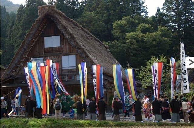 2020合掌村點燈 白川八幡神社