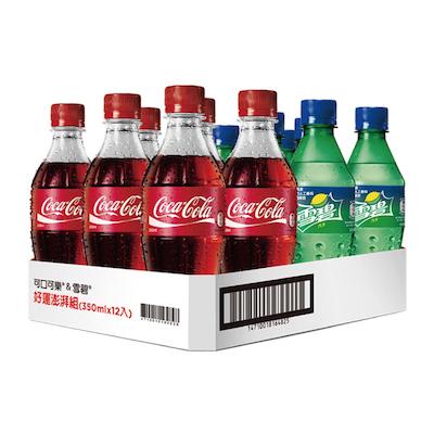 [中元限量]可樂雪碧350ml*12入組