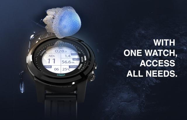 CREST CR-4 潛水電腦錶
