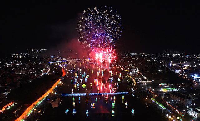 晉州南江流燈節