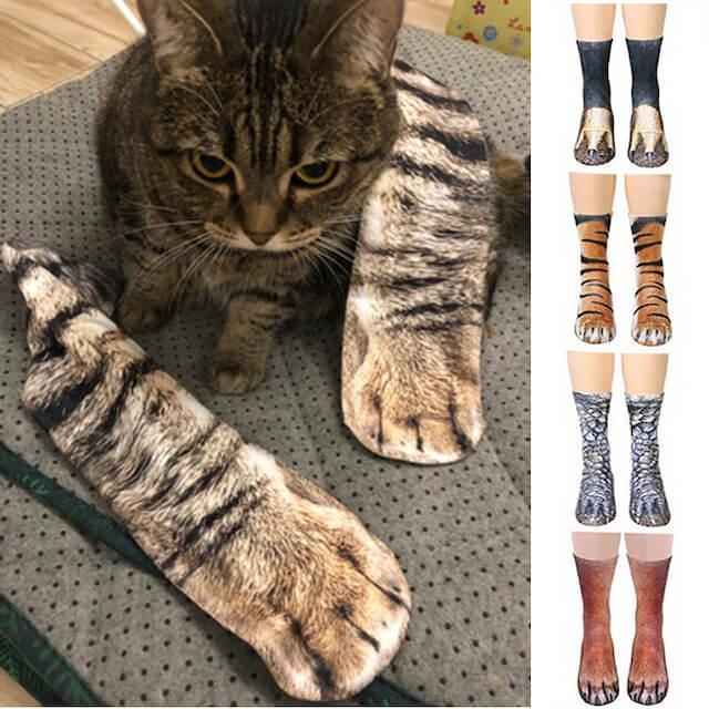 仿真貓襪子