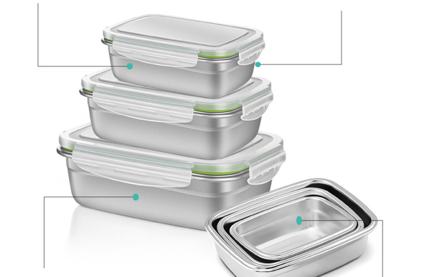 GREEGREEN 極速冷凍解凍不鏽鋼保鮮盒