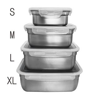 韓國製樂扣蓋不鏽鋼方形保鮮盒