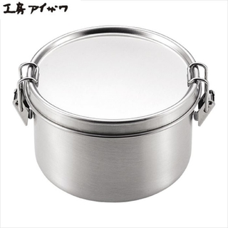AIZAWA相澤工房 扣環式不鏽鋼圓型保存盒