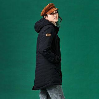長版羽絨外套 ADISI 女防水透氣長版羽絨保暖連帽外套