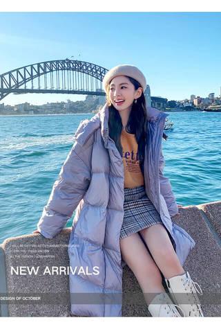 長版羽絨外套 2019冬裝新款女裝寬鬆長版加厚羽絨服