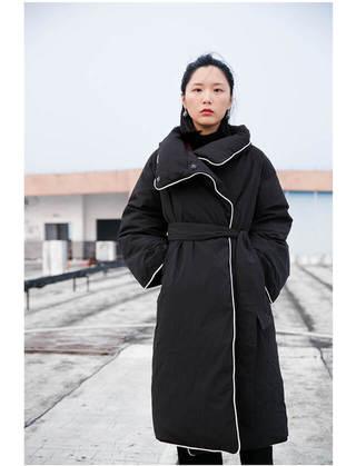 長版羽絨外套 超長版 黑色 加厚寬松冬季外套