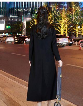 女生長版大衣 雙面羊絨大衣