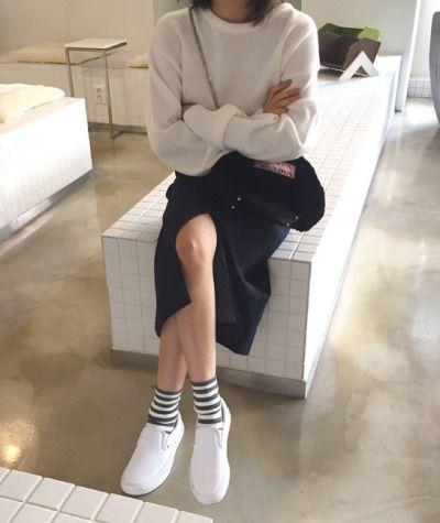 條紋襪子 韓風