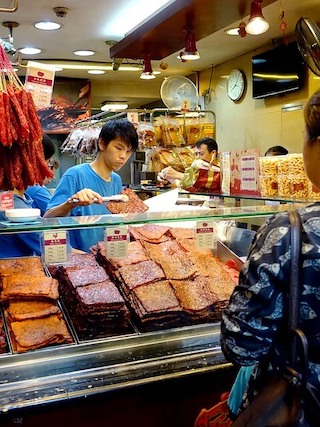 新加坡牛車水 林志源肉乾