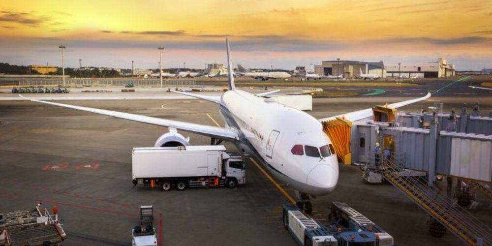 機場 夕陽