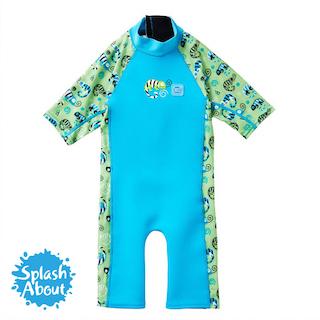 潑寶 兒童抗UV防寒保暖連身泳