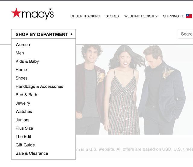 Macy's 梅西百貨網路購物 找商品