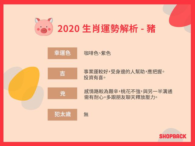 2020生肖運勢 豬