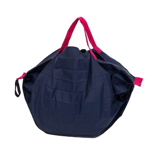 日本 MARNA - Shupatto 秒收摺疊購物袋-海軍藍 (S(30x26cm))-