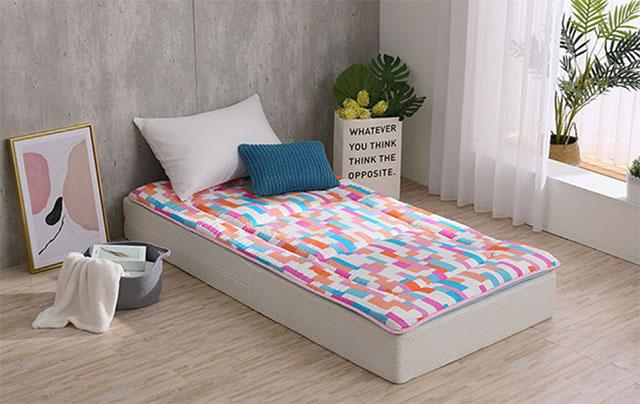 LAMINA 馬賽克彩格100%純棉日式床墊5cm