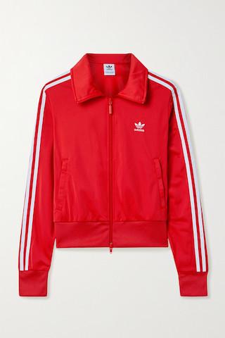 ADIDAS ORIGINALS Firebird 條紋平紋織布運動外套