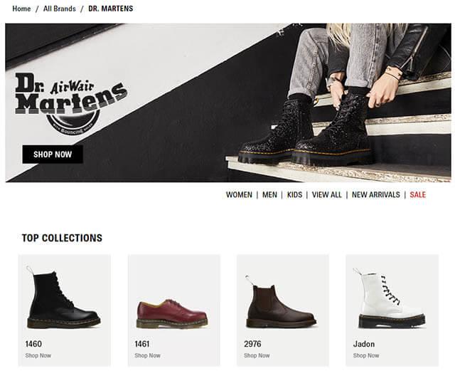 搜尋你想購買的品牌,瀏覽鞋款