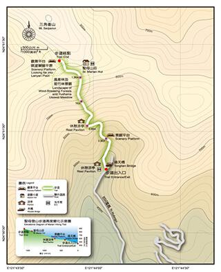 聖母登山步道地圖
