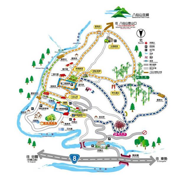 八仙山森林遊樂區地圖