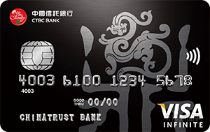 中國信託雙幣鼎極卡