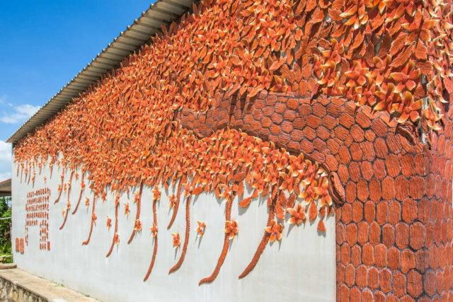 窯燒紅磚牆