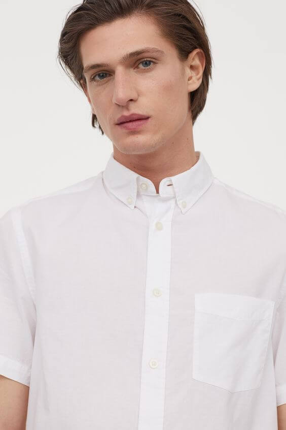 標準剪裁棉質襯衫