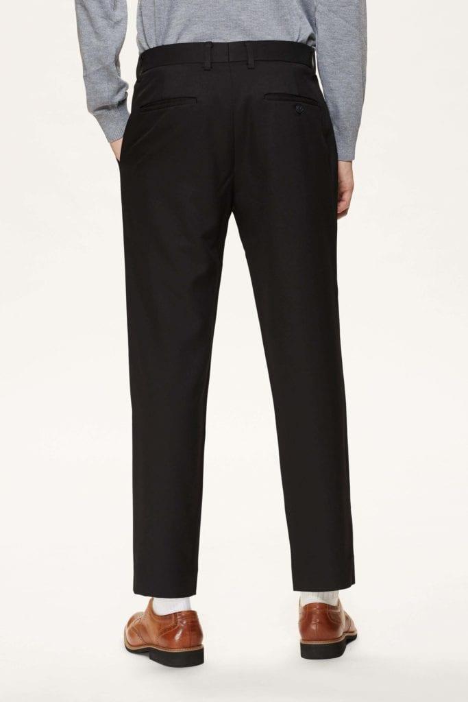Formal 輕挺斜紋 單褶修身西裝長褲