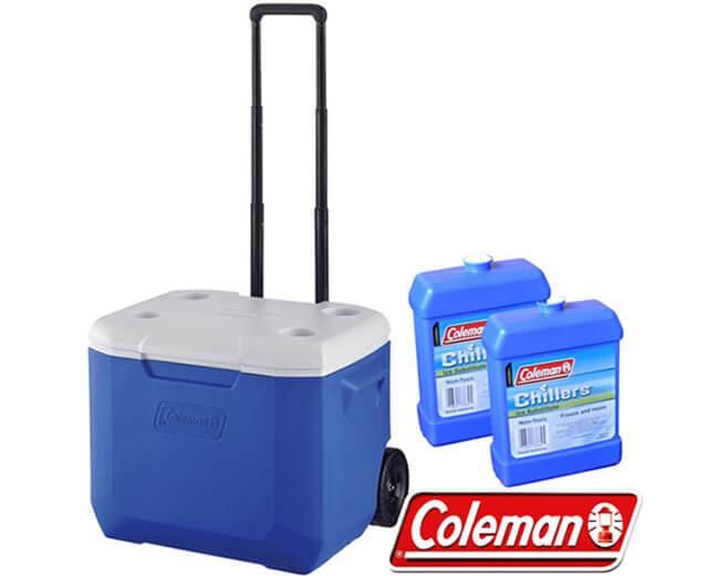 Coleman 56L行動拉桿拖輪保冰桶