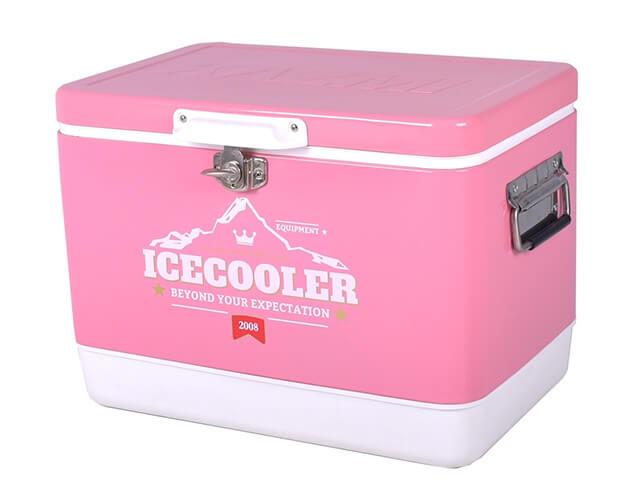 ICE COOLER 29L不鏽鋼行動冰箱(粉色)