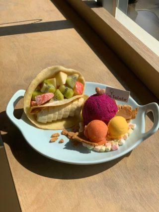 法式薄餅水果冰淇淋