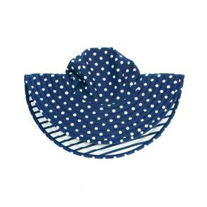 美國 RuffleButts - 粉藍直紋防曬帽 5.0