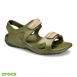 Crocs卡駱馳 男鞋 激浪涉水涼鞋 203965-354 M10軍綠色