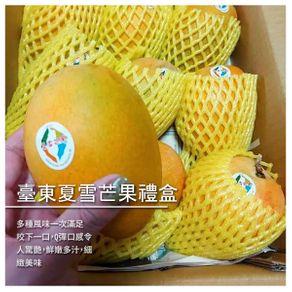 【緁迪水果】臺東夏雪芒果禮盒/2.5公斤