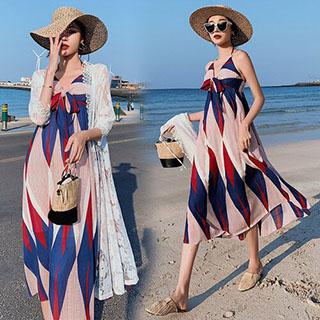 推薦品項:韓系沙灘裙超仙長裙度假無袖洋裝