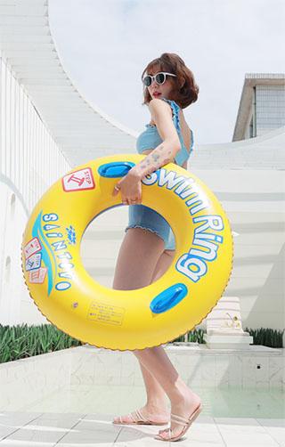 推薦品項:成人腋下泳圈網紅充氣游泳圈