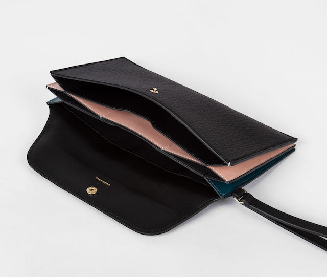 Paul Smith Black Leather 'Concertina' Travel Wallet