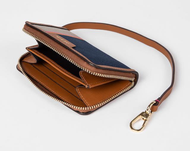 Paul Smith Women's 'Stripe Jacquard' Small Zip Purse