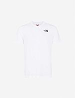 The North Face北面 男女款白色背部印花短袖T恤