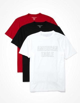 AE 插畫 T 恤,一組三件