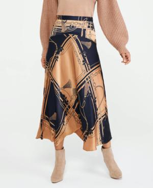 Equestrian Midi Slip Skirt