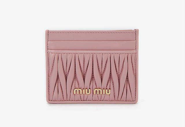 MIU MIU Matelassé quilted leather card holder