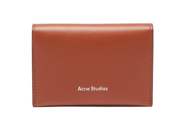 ACNE STUDIOS Logo-debossed bi-fold leather cardholder