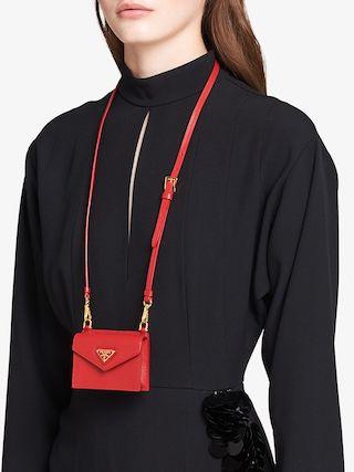 Prada shoulder strap cardholder