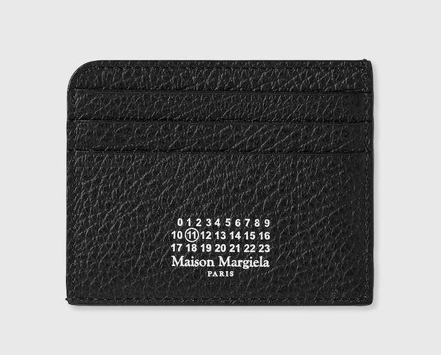 MAISON MARGIELA GRAINY LEATHER CARD HOLDER